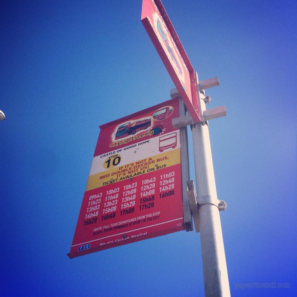 Red Bus Tour Bus Stop