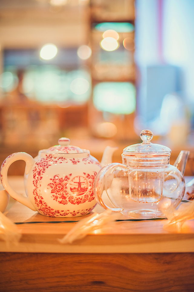 Teapots on Counter