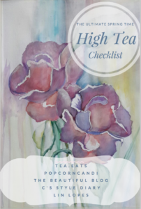 Spring High Tea Checklist Image