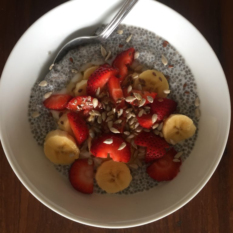 Chia Breakfast Bowl with Strawberries